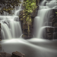 Buy canvas prints of  Penllergaer falls Swansea by Leighton Collins