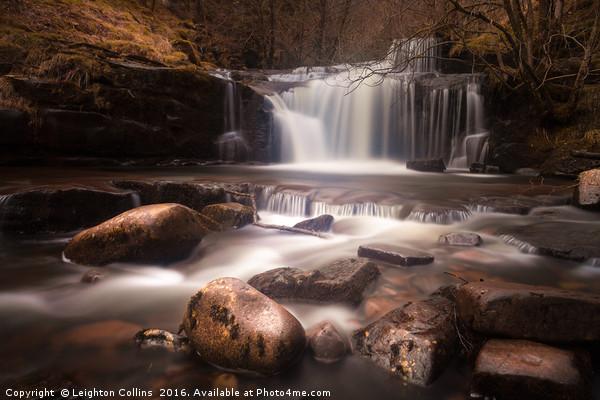Blaen y Glyn Waterfalls Canvas Print by Leighton Collins