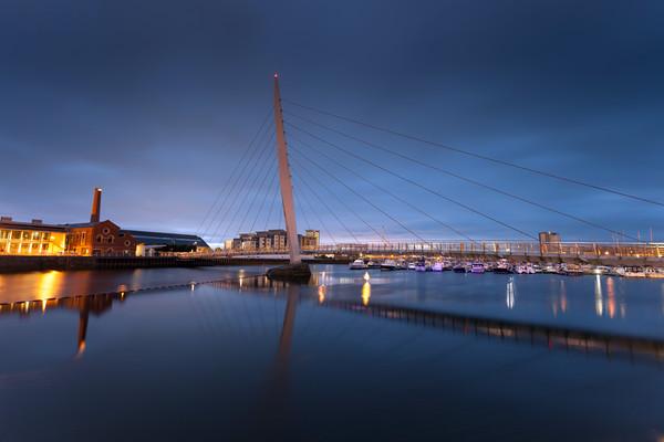 Swansea Sail Bridge Canvas print by Leighton Collins