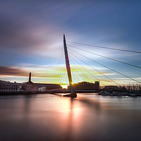 Buy canvas prints of Swansea Sail Bridge  by Leighton Collins