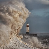 Buy canvas prints of In the jaws of Hurricane Ophelia by Leighton Collins