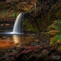 Buy canvas prints of Lady Falls Sgwd Gwladus waterfall by Leighton Collins