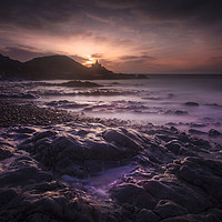 Buy canvas prints of Daybreak at Bracelet Bay by Leighton Collins