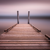 Buy canvas prints of The jetty on Comox Lake by Leighton Collins