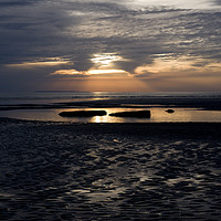 Buy canvas prints of Sunset Reflections  by Pete Moyes