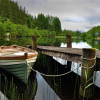 Buy canvas prints of Loch Ard,The Trossachs,Scotland by jim wilson