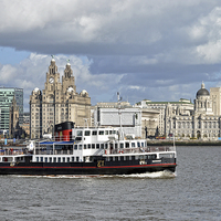 Buy canvas prints of Snowdrop on the River Mersey, by Frank Irwin
