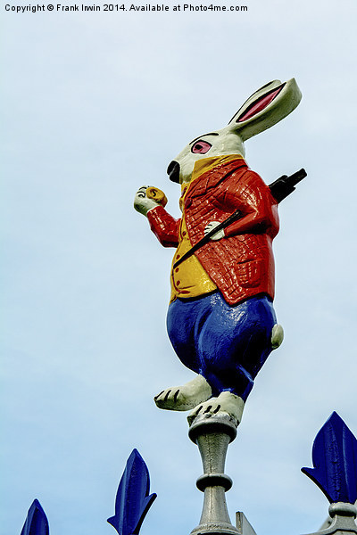 The March Hare from the themed bandstand Canvas print by Frank Irwin