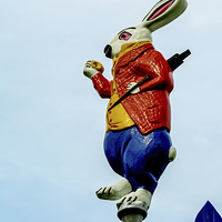 Buy canvas prints of The March Hare from the themed bandstand by Frank Irwin