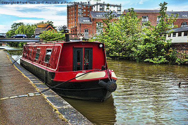 A Canal Narrowboat berthed on the Shropshire Union Canvas print by Frank Irwin