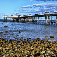 Buy canvas prints of  Llandudno's Victorian pier by Frank Irwin