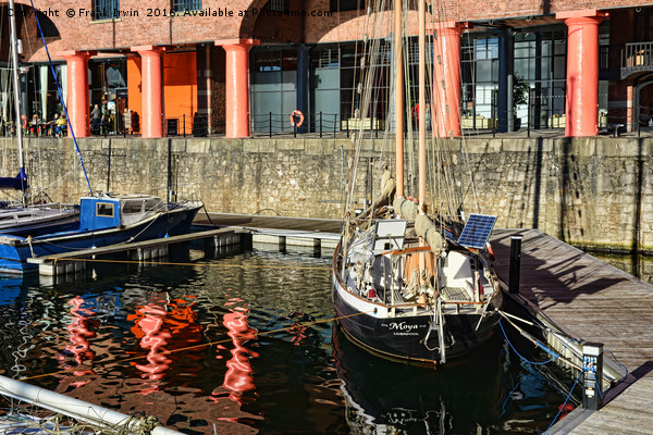 A quiet corner of Albert Dock Marina Canvas print by Frank Irwin