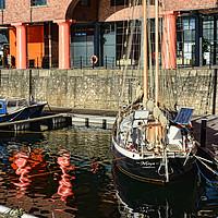 Buy canvas prints of A quiet corner of Albert Dock Marina by Frank Irwin