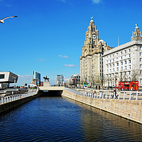 Buy canvas prints of Liverpool's iconic waterfront by Frank Irwin