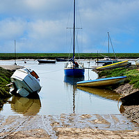 Buy canvas prints of Heswall Beach and its slipway by Frank Irwin