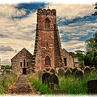 Buy canvas prints of Holy Cross Church (Grunged) Woodchurch by Frank Irwin