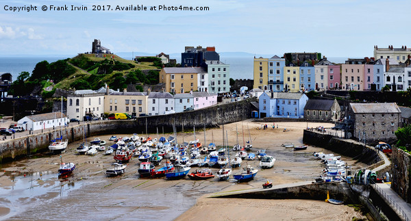 Tenby Harbour, Tenby, Wales, UK Canvas print by Frank Irwin