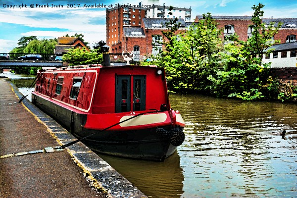 Canal boat on Shropshire Union canal at Chester Canvas print by Frank Irwin