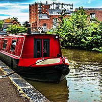 Buy canvas prints of Canal boat on Shropshire Union canal at Chester by Frank Irwin