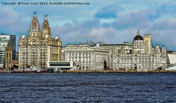 Liverpool's Three graces -artistic form. Canvas print by Frank Irwin