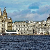 Buy canvas prints of Liverpool's Three graces -artistic form. by Frank Irwin