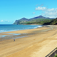 Buy canvas prints of The beach at Morfa Nefyn, North Wales by Frank Irwin