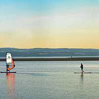 Buy canvas prints of Marine lake West Kirby by Frank Irwin