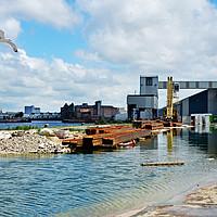 Buy canvas prints of Birkenhead Docks, East Float by Frank Irwin
