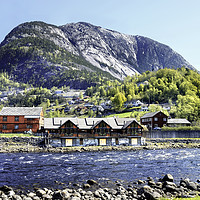 Buy canvas prints of A settlement close to Eidfjord, Norway by Frank Irwin