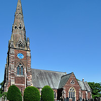 Buy canvas prints of All Saints Church, Thornton Hough, Wirral by Frank Irwin