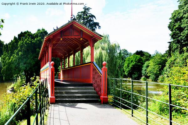 Birkenhead Park's Iconic Swiss Bridge Acrylic by Frank Irwin
