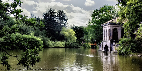 Birkenhead Park, Swiss Bridge and Boathouse. Acrylic by Frank Irwin