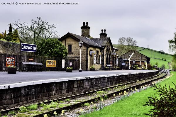 Oakworth railway station. Acrylic by Frank Irwin