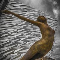 Buy canvas prints of Titanica, Titanic Building, Belfast by Gareth Burge