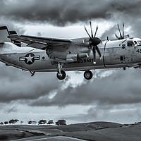 Buy canvas prints of Grey Skies Greyhound by Gareth Burge Photography