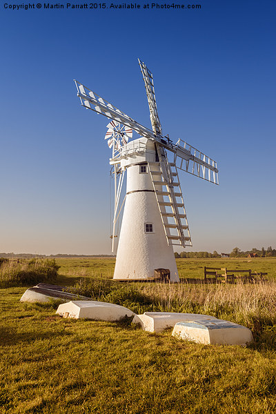 Thurne Drainage Mill Canvas print by Martin Parratt