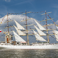 Buy canvas prints of Tall Ship by Martin Parratt