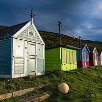 Buy canvas prints of Westward Ho! Beach Huts by Martin Parratt