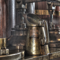 Buy canvas prints of Brass oil can by Steev Stamford