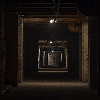 Buy canvas prints of Dark tunnel by Steev Stamford