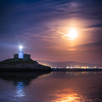Buy canvas prints of Moonlit Mumbles by Purple OneTwoEight