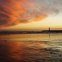 Buy canvas prints of Sunderland Roker Pier River Wear by Glenn  Potts