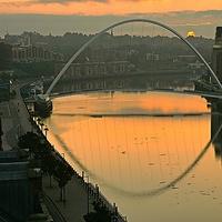 Buy canvas prints of Millennium Bridge Newcastle upon Tyne by Glenn  Potts
