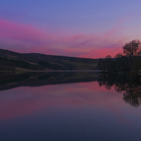 Buy canvas prints of Goyt Valley Sunset by Laura Kenny