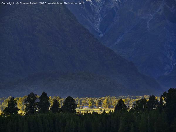 New Zealand Alps Foothills Sunrise Print by Steven Ralser