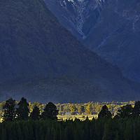 Buy canvas prints of New Zealand Alps Foothills Sunrise by Steven Ralser