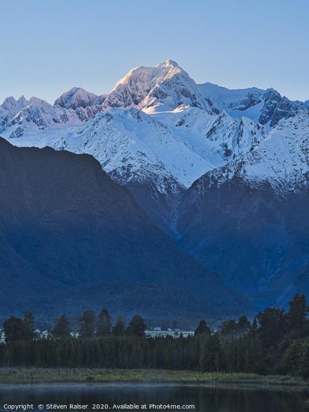 Mt Tasman and Fox Glacier - New Zealand Print by Steven Ralser