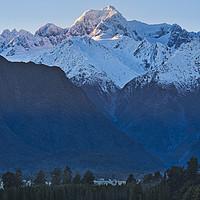 Buy canvas prints of Mt Tasman and Fox Glacier - New Zealand by Steven Ralser