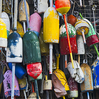 Buy canvas prints of Lobster Buoys - Maine by Steven Ralser