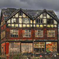 Buy canvas prints of Abandoned House in Manchester by Juha Remes
